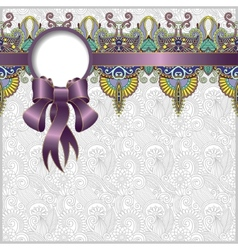 Ethnic ornamental pattern with silk ribbon vector