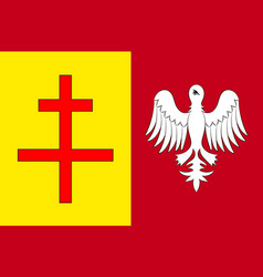 Flag of sarreguemines in moselle of grand est is vector