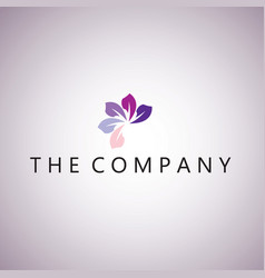 flower logo ideas design vector image