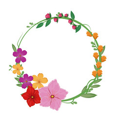 Flowers spring crown decoration vector