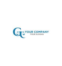 g law firm logo design vector image