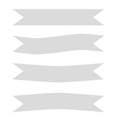 gray ribbon banner icon on white background gray vector image