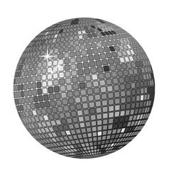 grey disco ball vector image