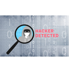 Hacker detected theme with magnifier vector