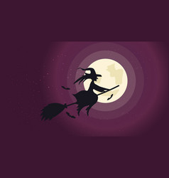halloween night background picture with flying vector image