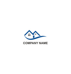home resident realty company logo vector image