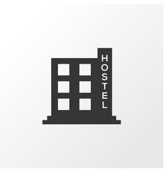hostel icon symbol premium quality isolated hotel vector image