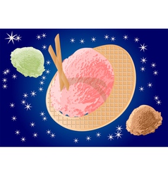 Ice cream as planets vector