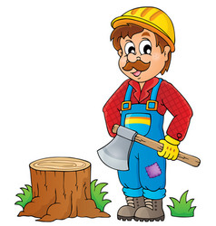 Image with lumberjack theme 1 vector