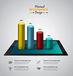 infographics with tablet vector image