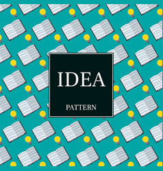 Inspirational seamless pattern light bulbs and vector