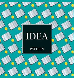Inspirational seamless pattern light bulbs vector