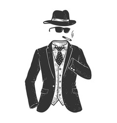 invisible man sketch vector image
