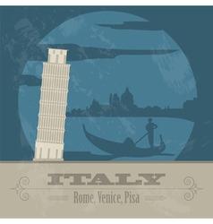 Italian Republic landmarks Retro styled image vector
