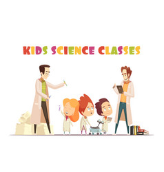 Kids science classes design concept vector