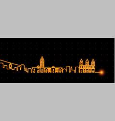 la paz light streak skyline vector image