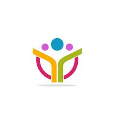 leadership abstract logo vector image
