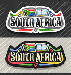 logo for south africa vector image