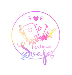 logo hand made soap vector image