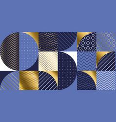 Luxury marine geometric pattern vector