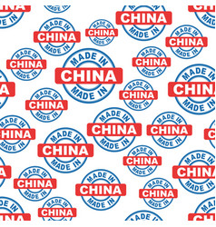 Made in china seamless pattern background icon vector