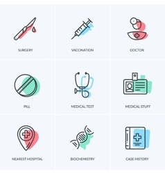 Medical icons pack vector