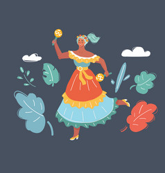 mexican female dance vector image
