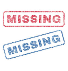 missing textile stamps vector image