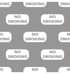 No smoking seamless pattern vector image