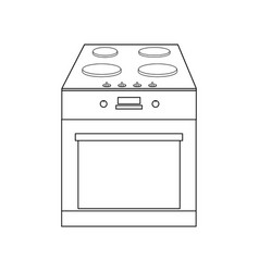 oven outline vector image