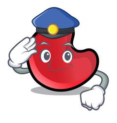 Police candy moon character cartoon vector