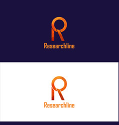 Researchline logo design vector