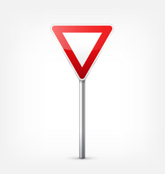 Road red signs collection isolated on white vector