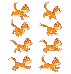 Running cat animation sprite vector
