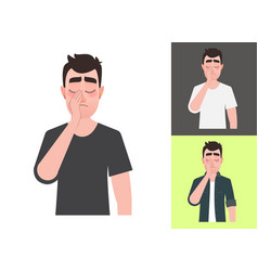 sad man showing a gesture facepalm vector image