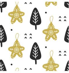 scandinavian christmas nordic seamless pattern vector image
