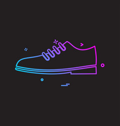 shoes icon design vector image