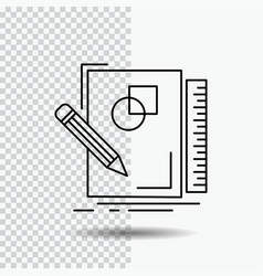 sketch sketching design draw geometry line icon vector image