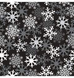 snow black pattern vector image