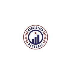 statistic diagram chart baseball team manager logo vector image