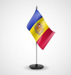 Table flag of Andorra vector
