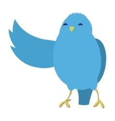 Talking blue bird vector image