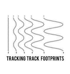 tracking human footprints to track walk paths vector image