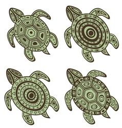 Turtles set vector image