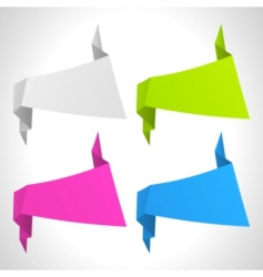 vector abstract origami background set vector image