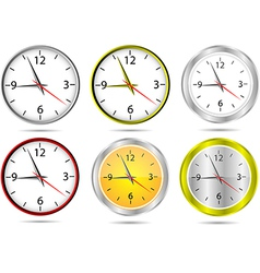 wall office clocks vector image