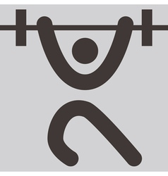weightlifting icon vector image
