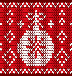winter textile with xmas ball and snowflake vector image