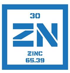 Zinc chemical element vector