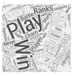 BWPB paint ball playing tips Word Cloud Concept vector image